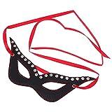 EXCEART Sex Augenbinde Fetisch Auge M Fragen PU Leder Eye Patch Slave Rolle Spielen Spiel Kostüm Prop für Erwachsene Paare BDSM Fesseln Zubehör