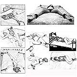 Vier Plüschhülsen für das B-D-S-M-Bett, geeignet für die Betten meisten, interessantes Spielzeug Befestigungskit